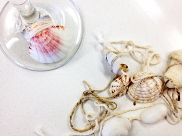 seashell glass charms